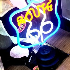 Other - NWB Route 66 Neon Light Up Standing Sign
